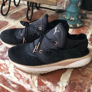 Black and Gold Women's Puma Shoes